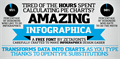 Illustration of font Amazing Infographic@