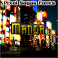 Illustration of font Manga