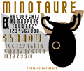 Illustration of font MINOTAURE