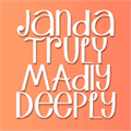 Illustration of font Janda Truly Madly Deeply
