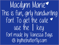 Illustration of font Macilynn Marie