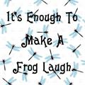 Illustration of font Laughing Frog