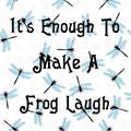 Illustration of font Laughing Frog