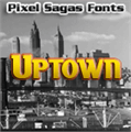 Illustration of font Uptown