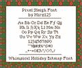 Illustration of font Pixel Sleigh
