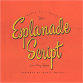Illustration of font Esplanade Script PERSONAL USE