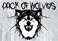 Illustration of font Pack of Wolves
