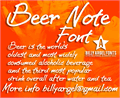 Illustration of font BEER NOTE