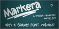 Illustration of font Markera