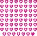 Illustration of font love social media