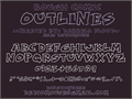 Illustration of font Rough Comic Outlines