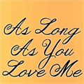 Illustration of font Janda As Long As You Love Me