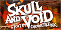 Illustration of font Skull And Void