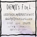 Illustration of font CHEMOs Font