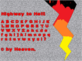 Illustration of font Highway to Hell!