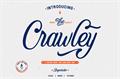 Illustration of font Crawley