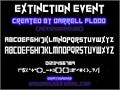 Illustration of font ExtinctionEvent