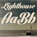 Illustration of font Lighthouse Personal Use