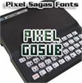 Illustration of font Pixel Gosub