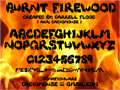 Illustration of font Burnt Firewood