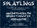 Illustration of font Splatlings