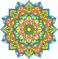 Illustration of font Mandalas