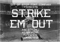 Illustration of font Strike 'Em Out