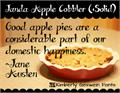 Illustration of font Janda Apple Cobbler