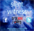 Illustration of font silent witness