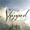 Illustration of font Shipped Goods