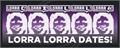 Illustration of font Lorra Lorra Dates!