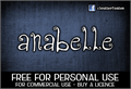 Illustration of font CF Anabelle