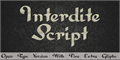 Illustration of font Interdite Script