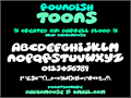 Illustration of font Roundish Toons