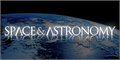 Illustration of font Space and Astronomy