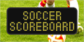 Illustration of font Soccer Scoreboard