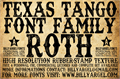 Illustration of font TEXAS TANGO EXTRA ROTH PERSONAL