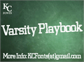 Illustration of font Varsity Playbook