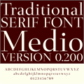 Illustration of font Medio