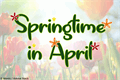 Illustration of font Springtime in April