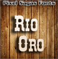 Illustration of font Rio Oro