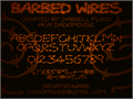 Illustration of font Barbed Wires