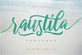 Illustration of font raustila