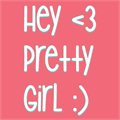 Illustration of font Hey Pretty Girl