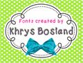 Illustration of font KBChatterBox