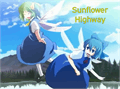 Illustration of font Sunflower Highway