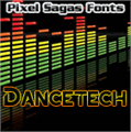 Illustration of font Dancetech