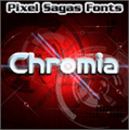 Illustration of font Chromia
