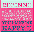 Illustration of font Robinne