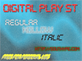 Illustration of font Digital Play St